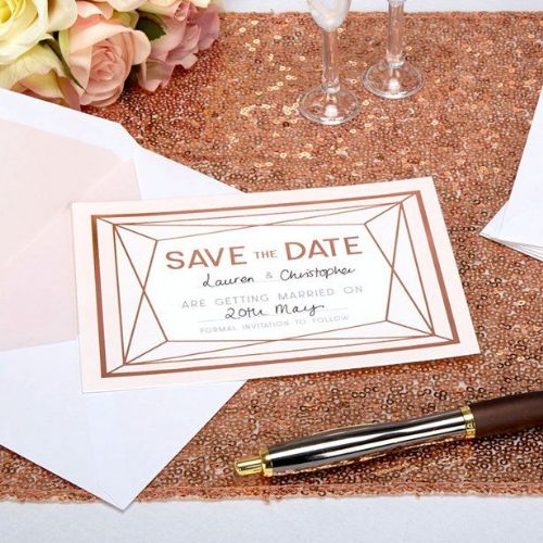 Geo Blush Wedding 'Save The Date' Cards (10pk)